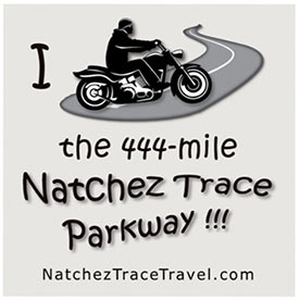 I Motorcycled the Natchez Trace Parkway Sticker