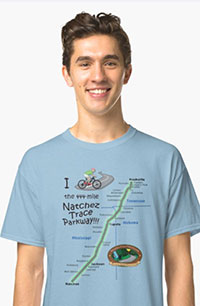 Men's T Shirt - Map of the Parkway