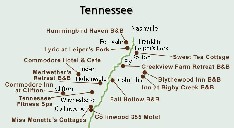 Tennessee Bed and Breakfasts