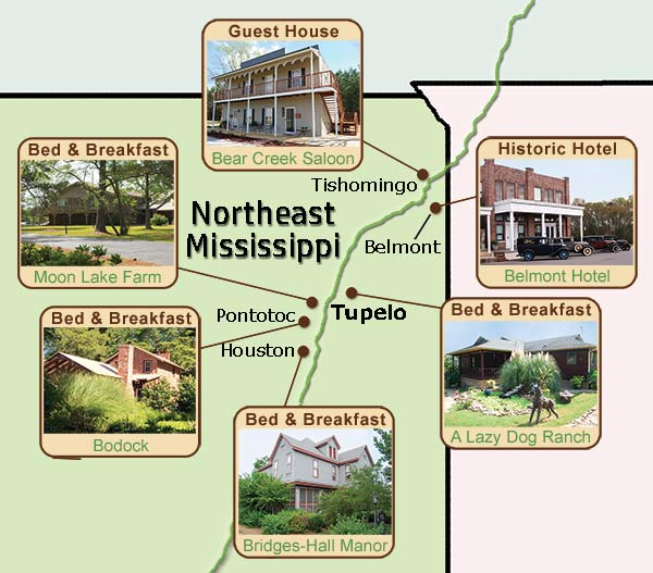 Northeast Mississippi Bed and Breakfasts