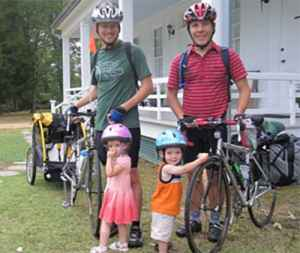Fathers and Toddlers - Natchez Trace Cyclist Photo Gallery