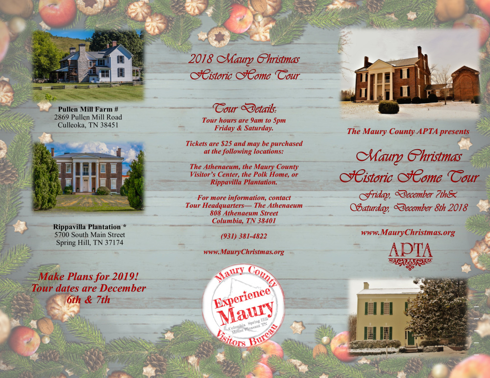 Maury Christmas - Historic Home Tour - Columbia, Tennessee