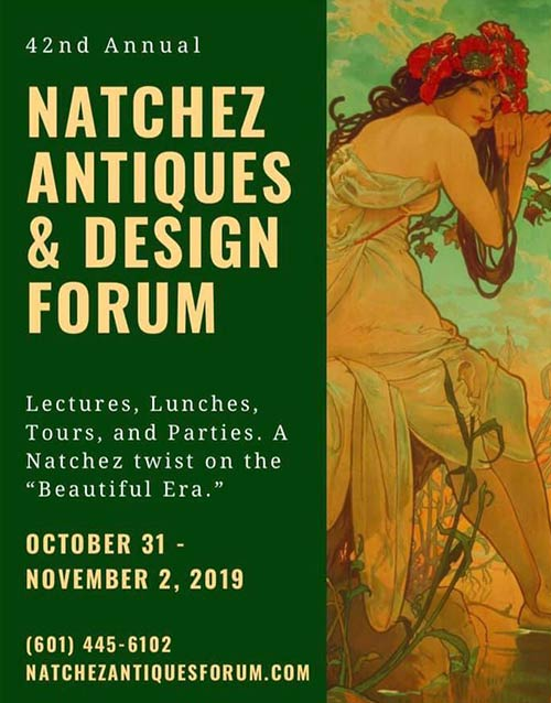 Natchez Antiques & Design Forum - Natchez, Mississippi