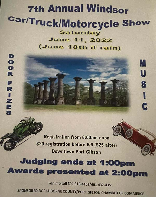 Windsor Car, Truck, and Motorcycle Show - Port Gibson, Mississippi