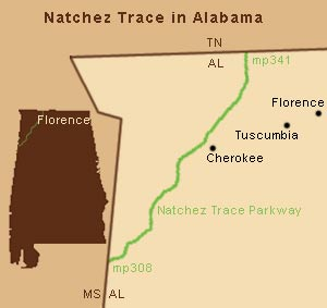 Natchez Trace in Alabama