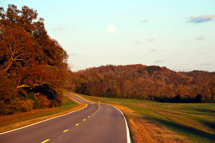 Milepost 395 - Natchez Trace Fall Foliage