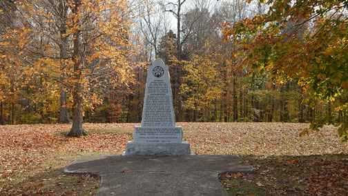 War of 1812 Memorial - Natchez Trace Fall Foliage