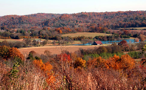 Water Valley Overlook - Natchez Trace Fall Foliage
