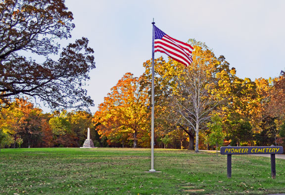 Meriwether Lewis Grave Site - Tennessee Fall Foliage