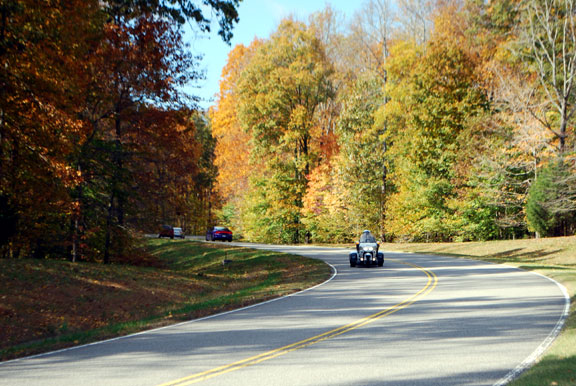 Trike at Milepost 431 - Tennessee Fall Foliage