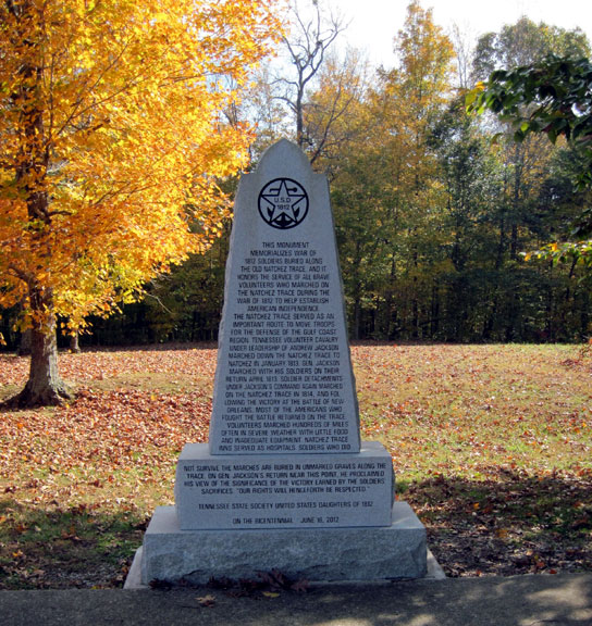 War of 1812 Memorial - Tennessee Fall Foliage