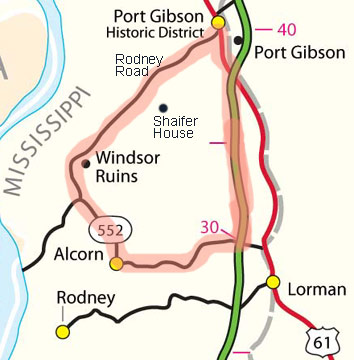 Windsor Ruins Loop Route Map