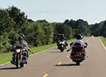 Lots of motorcycles on the Natchez Trace Parkway.