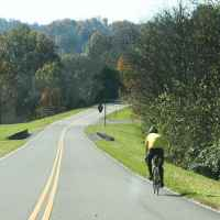 Tennessee - Cyclist near the Jackson Falls exit.
