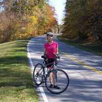 Tennessee - Bicycling on a beautiful fall day (October 22) near milepost 362 in southern Tennessee.