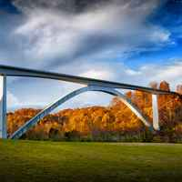 Natchez Trace Parkway: Nashville - Franklin | Photo of the Double Arch Bridge from the valley.