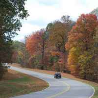 Natchez Trace Parkway: Nashville - Franklin | Fall foliage near the northern terminus.
