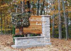 Timberland Park - Entrance Sign