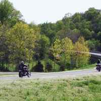 Tennessee - Motorcycles approaching the Leiper's Fork exit.