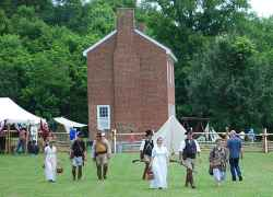 Muster on the Trace re-enactment event.