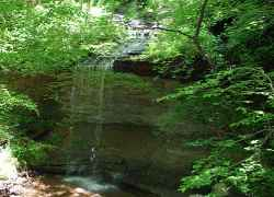 View of lower falls at Fall Hollow Waterfall.
