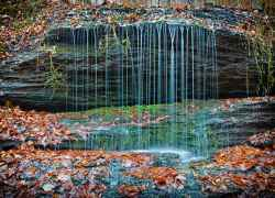 One of the smaller waterfalls at Fall Hollow.