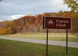 Fall foliage at Cypress Creek.