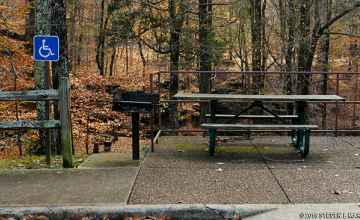 Handicap access picnic table at Glenrock Branch.