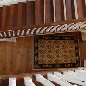 Staircase view from the Second Level at Blythewood Inn Bed and Breakfast