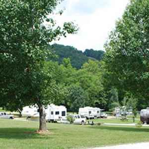 Campground at Fall Hollow Resort.
