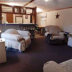 The Aluminum Lodge - 2 Bedroom Cottage - Living Room