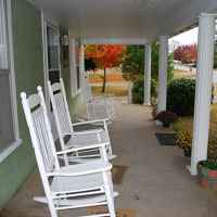 Front Porch at Cottage 1
