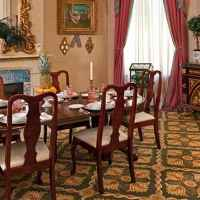 Breakfast is served at the Devereaux Shields in this elegant setting!
