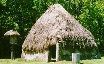 A reconstructed Natchez Indian house.