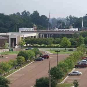 Aerial view of the Natchez Visitor Center.