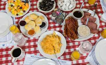 Breakfast is served all day, every day at The Loveless Cafe - Nashville, Tennessee.