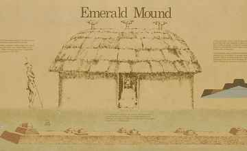 Drawing of the ceremonial structure on top of the secondary mound.