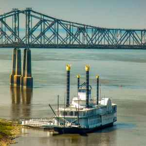 Casino Riverboat anchored at Natchez-Under-the-Hill