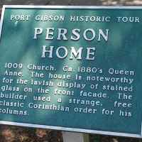 Person Home historic marker.