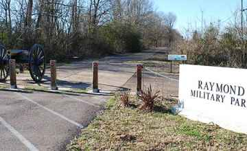 Entrance to Raymond Military Park - Raymond, Mississippi