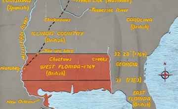West Florida Map - 1764