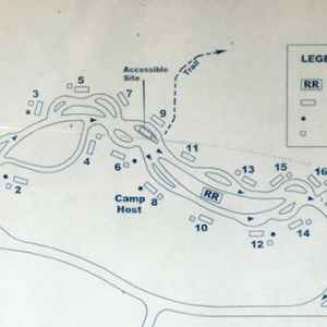 Campground map at Jeff Busby