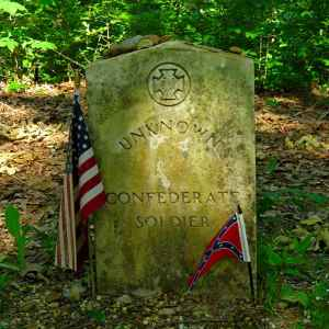 Gravesite of an Unknown Confederate Soldier