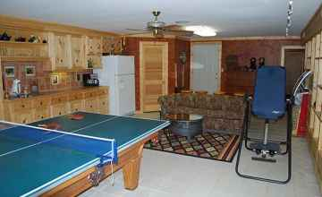 The Game Room at A Lazy Dog Ranch B&B