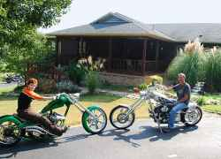 Your innkeepers are motorcycle enthusiasts.