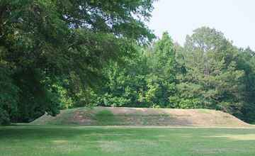 Bear Creek Mound was used as a platform for a temple.