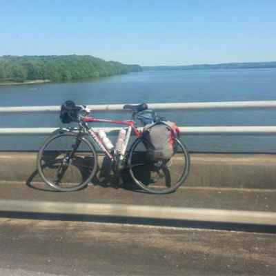 Alabama - Biking over the Tennessee River.