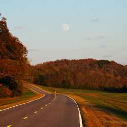 Driving north towards Nashville on a late October day from the Columbia/Centerville section of the Natchez Trace Parkway.