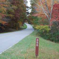 Fall scenery at milepost 355 (Collinwood, TN).