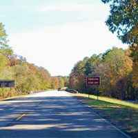 Front end of the fall foliage season at the Mississippi - Alabama stateline.